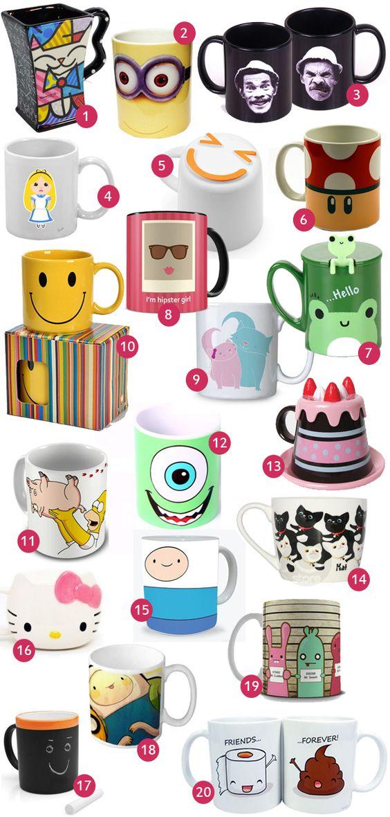 Minha Boutique de Luxo: Top 20: Canecas fofas e divertidas: