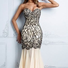 So Pretty Embellished Mermaid Gown by Terani Couture Evening from ILoveCuteShoes.com