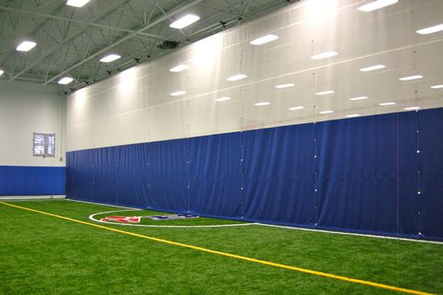 Mansion with indoor soccer field  Divider curtain for indoor sports facility to separate fields for ...