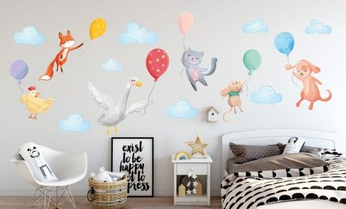 Naklejka Scienna Dla Dzieci Na Sciane Balon Balony Chmury Home Decor Decor Home Decor Decals