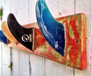 How to make a Surf Fin Coat Rack and CeCe Caldwell Paint Classes nationwide! « Debis Design Diary...some day for a boy's surfer room