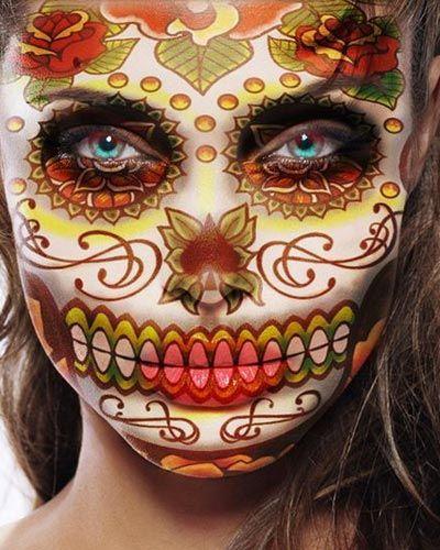 Pix for catrina maquillaje dia de los muertos day of the dead sugar skulls pinterest - Maquillage dia de los muertos ...