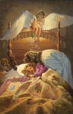 The Kissing Angel Fine-Art Print by David Rottinghaus at UrbanLoftArt.com