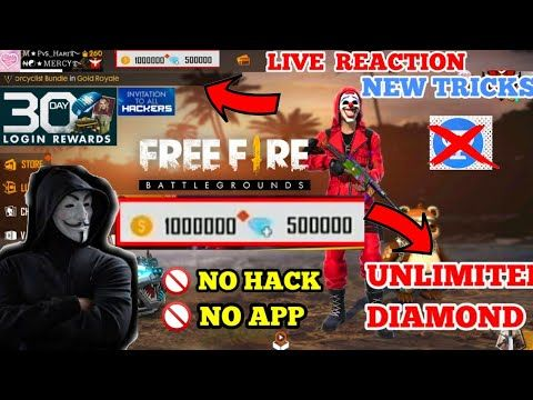Free Fire Unlimited Diamond With Out Hack Tamil Unlimited Diamond Live Reaction No App Or No Hack Free Fire Epic New Tricks Diamond Free Hack Free Money