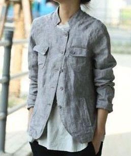 linen jacket   this is how to wear my Juergen Lehl linen jacket