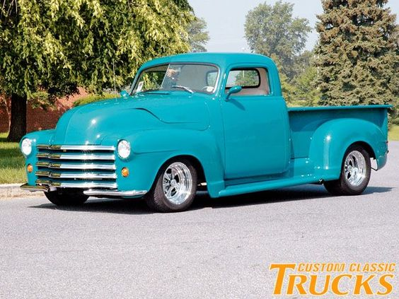 classic teal chevy truck