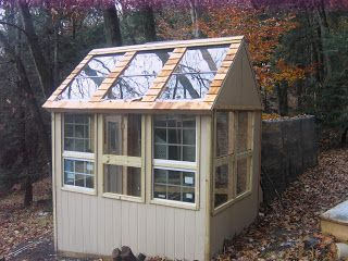 Reclaimed Greenhouse - made from reclaimed glass and wood.