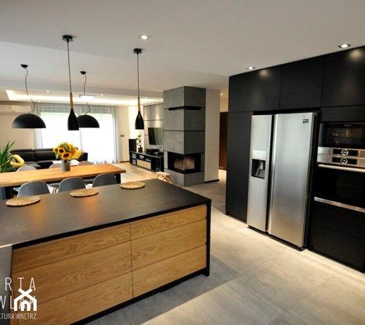 Biala Kuchnia Z Drewnianym Blatem New Kitchen Interior Kitchen Interior Kitchen Design Small