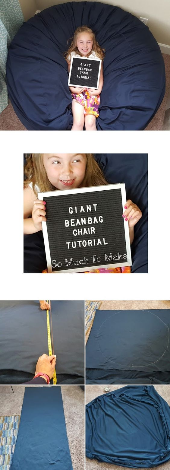 Giant Bean Bag Chair Tutorial Bags Patterns And Student