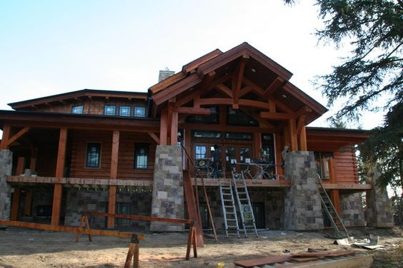 Pinterest the world s catalog of ideas for Log home plans with basement