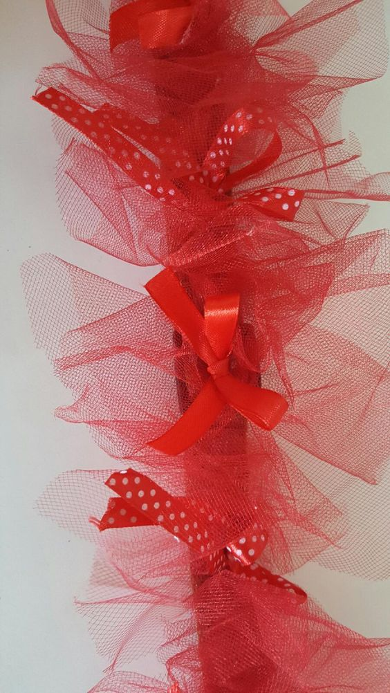 Valentines Day Dog Puppy Pet Collar Bows Bells Ribbon Tulle collar Pet Boutique Simply Adorable! by CuteAsAButtonForAll on Etsy