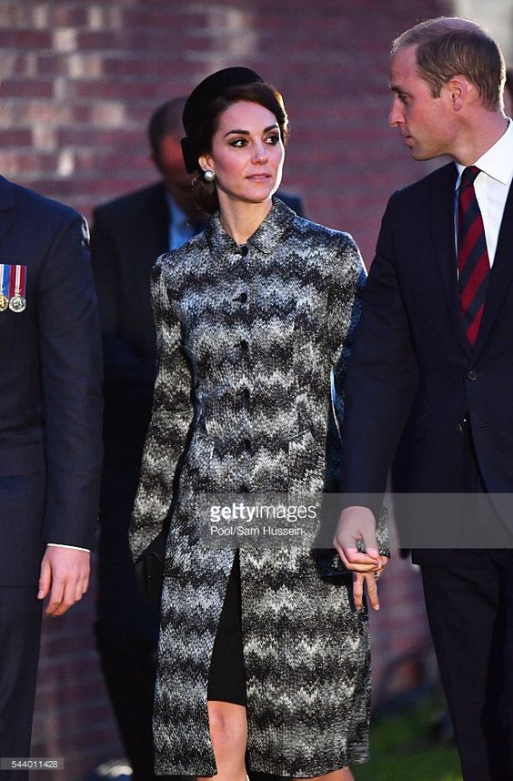 Catherine, Duchess of Cambridge, Prince William, Duke of Cambridge attend a vigil to commemorate the 100th anniversary of the beginning of the Battle of the Somme at the Thiepval Memorial on June 30, 2016 in Thiepval, France. on June 30, 2016 in Thiepval, France.