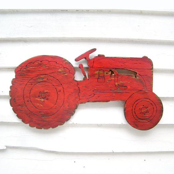 Farm Tractor Sign Boys Room Wall Decor Garden Country Farm sign ...