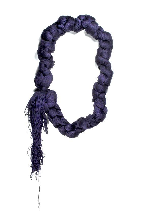 "EMD joaillière / Emilie dell Aniello - ""Tisserandes"" (conjugaisons) - collier, coton:"