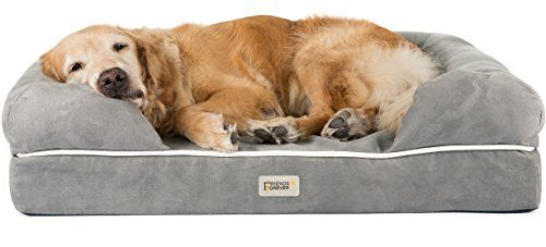 Orthopedic Dog Bed Lounge Sofa Removable Cover 100 Suede 4
