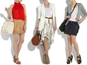 Diferentes modelos de faldas cortas