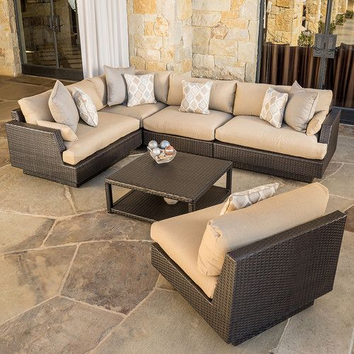 Portofino™ Comfort 6pc Sofa Sectional - Heather Beige