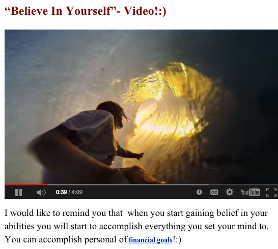"""Believe In Yourself""  Link To Blog => http://garciasblog.com/believe-in-yourself/"