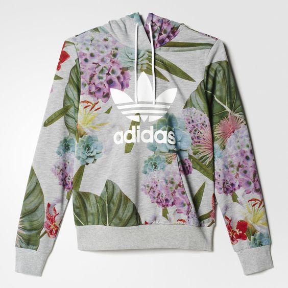 adidas hoodie floral