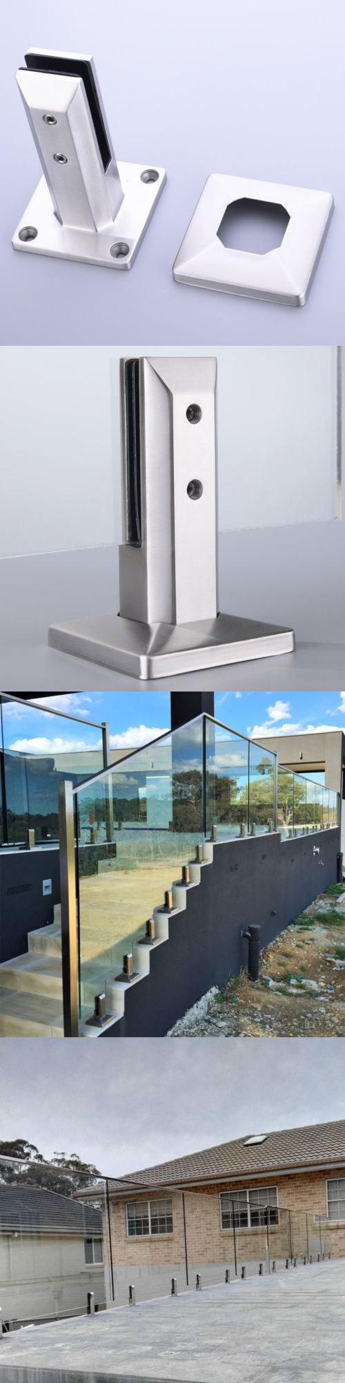 Railings 139950 Stainless Steel Glass Spigot Balustrade Post Pool Fence Stair Railing Buy It Now Only 49 55 On Ebay Balcony Pool Railing Stairs