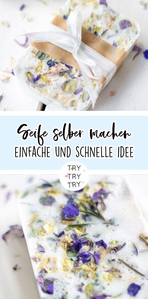 DIY Seife selber machen - schöne Geschenkidee!