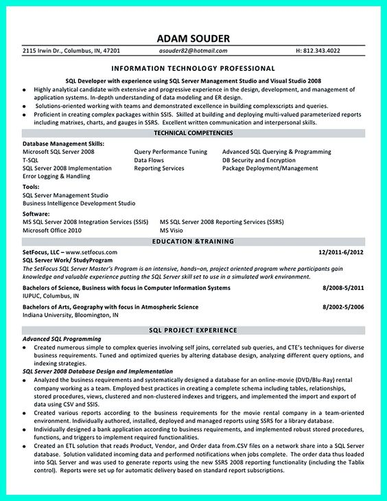 Database Developer Resume resumes that get jobs financial samurai with luxury acting resume example with awesome early childhood resume also database developer resume in addition Database Developer Resume Here Can Be Used By Professionals To Prove Their Skills And Track Record