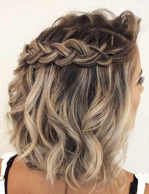 63 Cute Hairstyles For Short Curly Hair Women 2020 Guide In 2020 Prom Hairstyles For Short Hair Braids For Short Hair Medium Hair Styles