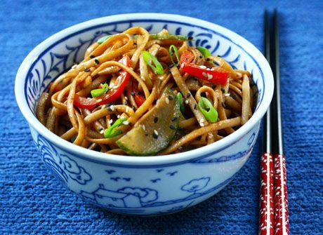 Cold sesame noodles, Sesame noodles and Noodles on Pinterest
