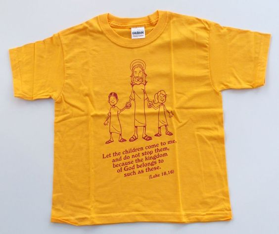 Yellow t shirt children child bible quotes jesus christ Bible t shirt quotes