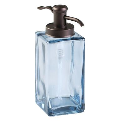 Decorative Glass Refillable Soap Dispenser Pump Soap Dispenser
