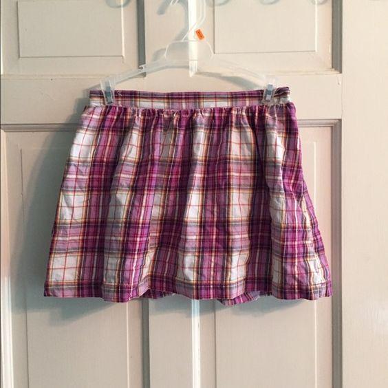 Girls size 14/16 skort Faded glory. Purple and white plaid. Dresses
