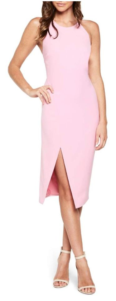Pink sheath dress
