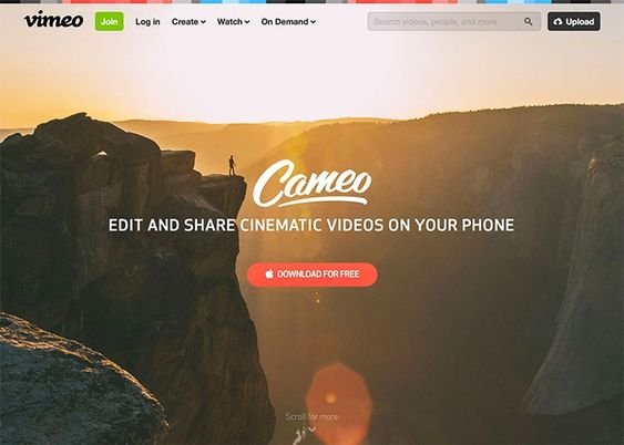 Cameo by Vimeo   CSS Website