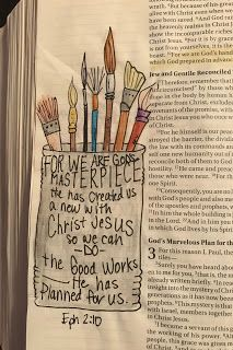 From The Hive: bible journaling #3