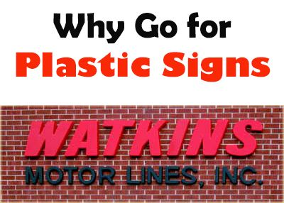 Why go for Plastic Signs