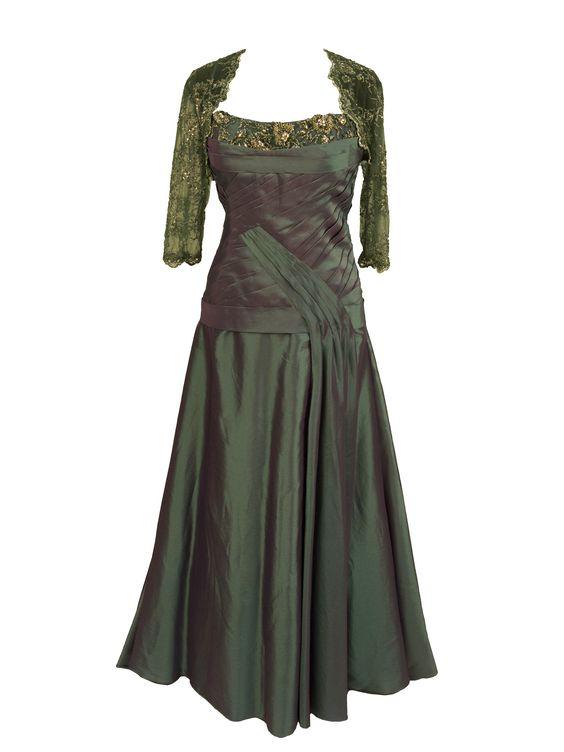 Rina di Montella R2853 Pleated Mothers Dress, Jacket