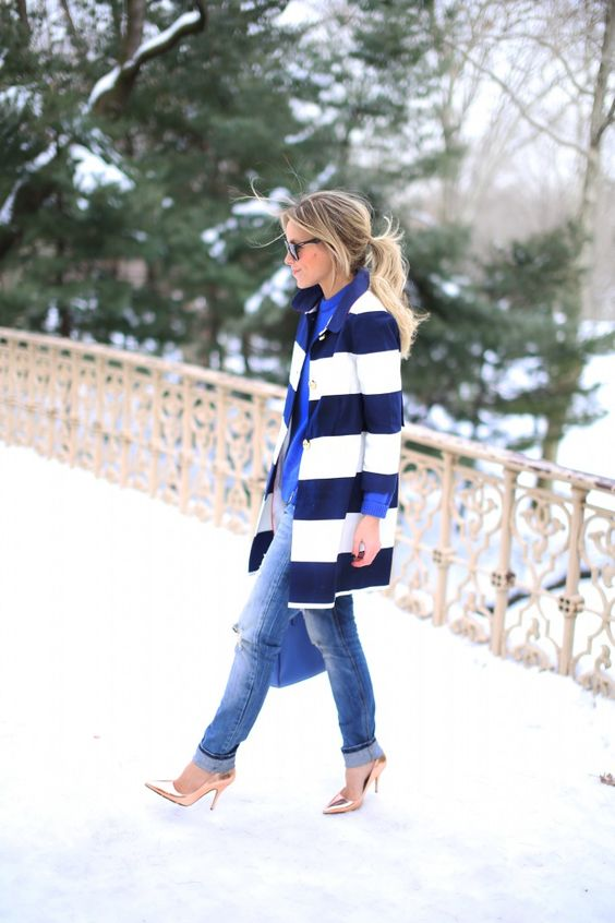 Kate Spade coat and shoes, Zara jeans
