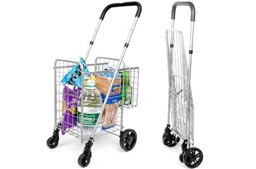 2 Supenice Compact Folding Grocery Shopping Cart With Rolling Wheels Folding Shopping Cart Shopping Cart Shopping