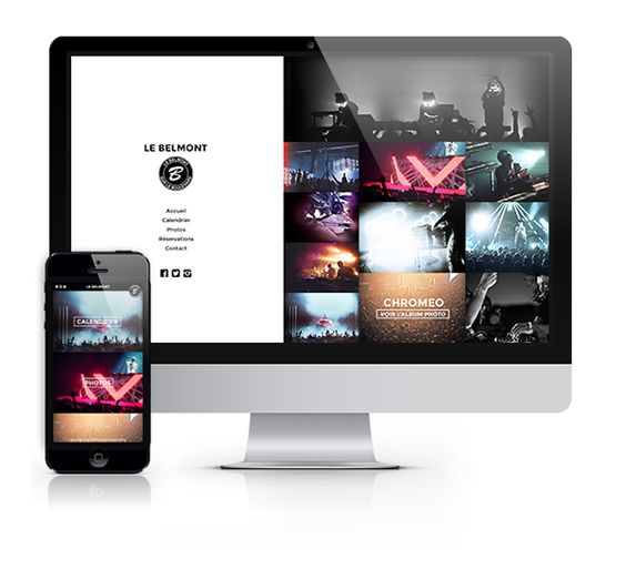 Web Design - Belmont sur le Boulevard on Behance