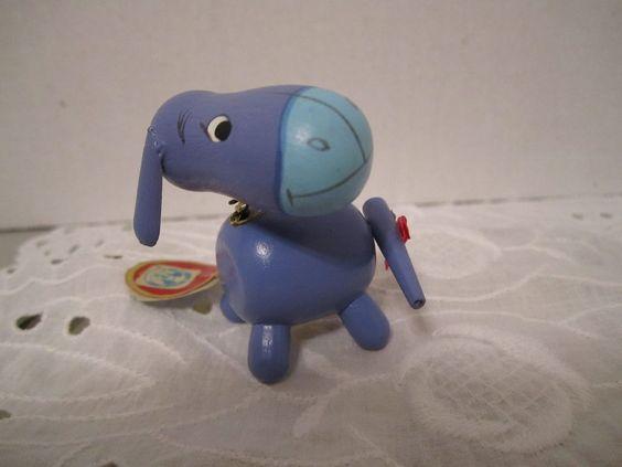 Vintage Disney Productions Eeyore Wood Kokeshi Figurine Winnie The Pooh Nodder