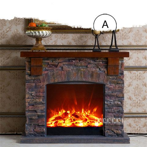 Deluxe Fireplace W150cm European Style Wooden Mantel Plus Electric Fireplace Insert Firebox Burner Artificial Led Fireplace Wooden Fireplace Fireplace Inserts