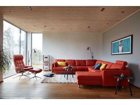 Stressless E600 in Karma orange \ London high back Stressless - capri suite moderne einrichtung