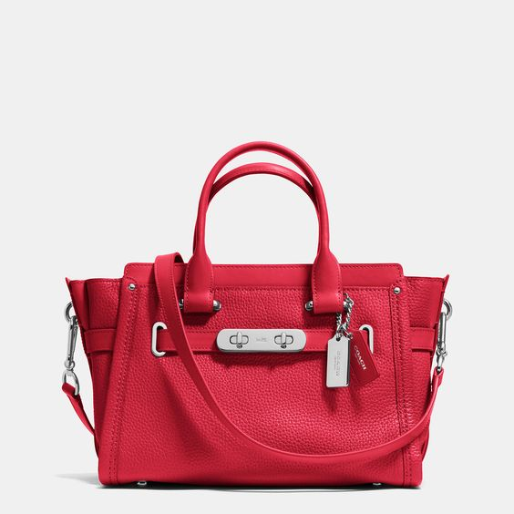 Coach | Red Swagger 27 In Pebble Leather | Lyst