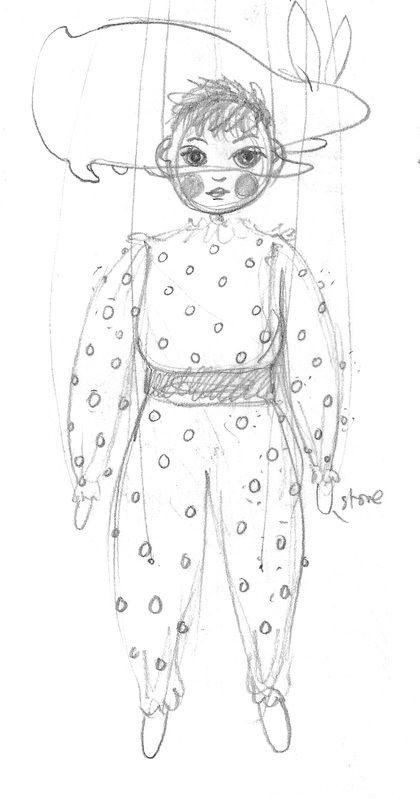 73. Boy Marionette: pencil on paper