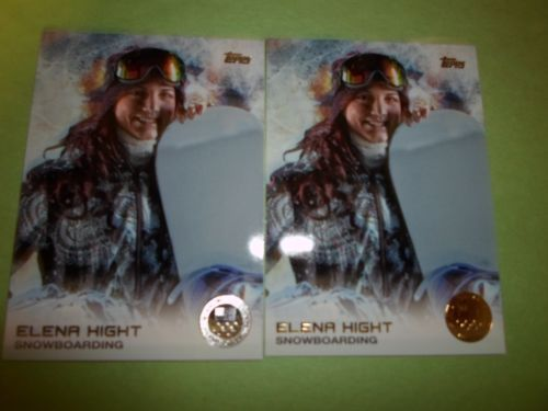2014 TOPPS U S OLYMPIC GOLD PARAELLEL ELENA KNIGHT #44 LOT OF2