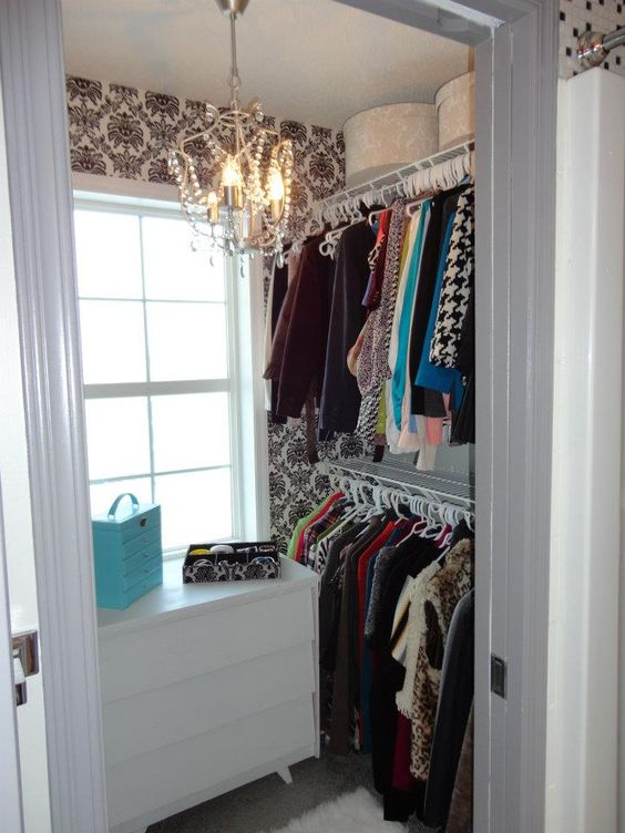 Mini Chandelier For Closet: An updated small closet: Turn your closet into dream closet, even if it is,Lighting