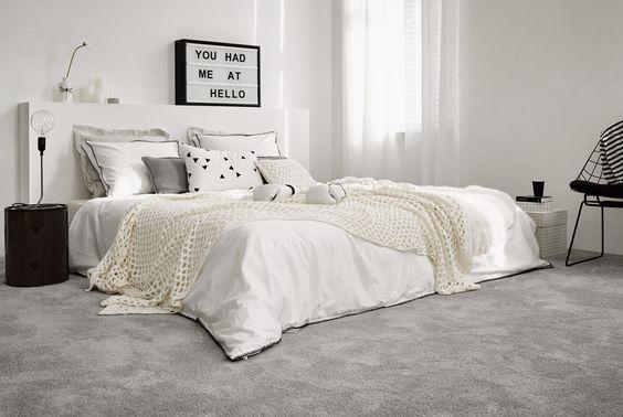 Parade tapijt voor uw slaapkamer. Voor een aangenaam gevoel:
