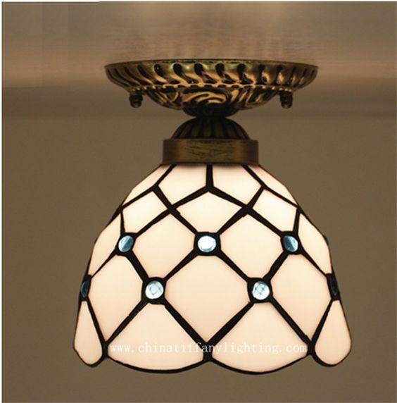 Tiffany lâmpada do teto, Estilo europeu barroco, Med, Bohemia superfície montado Tiffany luz, 16 cm lobby decoração TFC 005 16CM em Luzes de teto de Iluminação no AliExpress.com | Alibaba Group