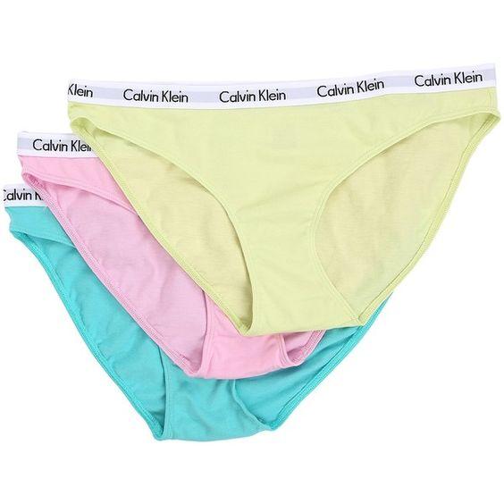 Calvin Klein Underwear Carousel 3-Pack Bikini (Fresh... ($25) ❤ liked on Polyvore featuring multi and calvin klein underwear