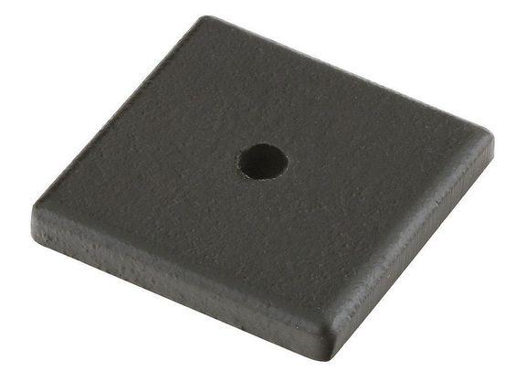 Emtek 86342 Sandcast Bronze Cabinet Knob Square Back Plate Flat Black  Cabinet Hardware Backplates Knob